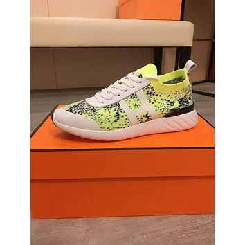 HERMES2021Men Fashion Boots fashionable Casual leather Breathable Sneakers Running Shoes 08150em
