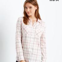 Aeropostale  Long Sleeve Lace Insert Woven Shirt