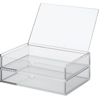 **Acrylic Case 2 Drawers with lid - Large