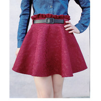 Millet can lace wood ear waist skirts