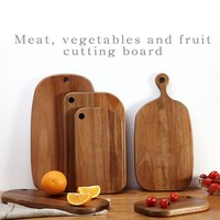 Acacia woodchoppingboard Fruit dish Sushi plate bread plate Coffee tray Side dish plate Meat, vegetables and fruit cutting board