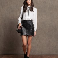 Crocodile skin effect skirt - SKIRTS - WOMAN | Stradivarius Republic of Ireland
