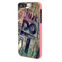 Nike Just Do It Wood iPhone 5 Case Framed Pink
