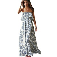 Off Shoulder Long Maxi Sundress