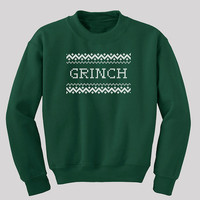 Grinch Ugly Christmas Sweatshirt  - Available in s, m, l, xl and 2xl