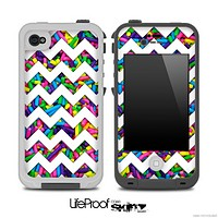 Bright Neon Sprinkles and White Chevron Pattern for the iPhone 5 or 4/4s LifeProof Case