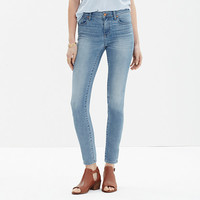 High Riser Skinny Skinny Crop Jeans in Mazzy Wash