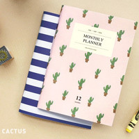 Iconic Simple and Slim monthly planner A6 size ver.2