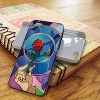 beauty and the beast rose glass beauty and the beast rose glass rose flower | For iPhone 5/5S Cases | Free Shipping | AH0378