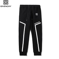 Givenchy New fashion letter print couple pants Black