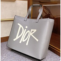Dior new letter jacquard shopping bag low-key handsome street style