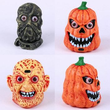 Plastic Pumpkin with LED light Sound and Sensor Scary For Halloween Decoration