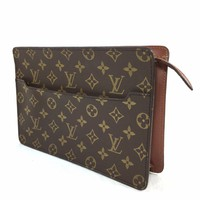 LOUIS VUITTON Monogram Pochette Homme Clutch