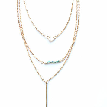 Chic Layered Gold Necklace
