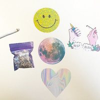 Stoner Sticker Pack | Bong Stickers | Laptop Stickers | Tumblr Stickers