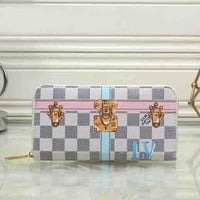Louis Vuitton LV Women Fashion Leather Print Multicolor Wallet Purse