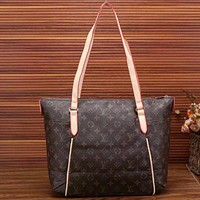 LV Women Shopping Leather Tote Handbag Shoulder Bag Pattern I-LLBPFSH Tagre™