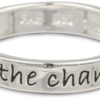 """Sterling Silver """"Be The Change You Wish To See in the World"""" Ring, Size 6"""