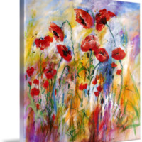 """Poppies Provencale Encore Painting by Ginette"" by Ginette Callaway"