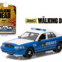 """Rick and Shane\'s 2001 Ford Crown Victoria Police Interceptor \The Walking Dead\"""" TV Series (2010-2015) 1/64 Diecast Model Car by Greenlight"""""""