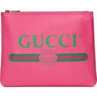 Gucci Logo Leather Pouch | Nordstrom