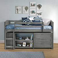 Hailey Grey Loft Bed for Kids