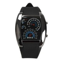 Man Fashion LED Backlight Military Wrist Watch Sports Meter Dial Watches for Men [9210699843]