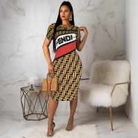 FENDI Womens Long Dress Clothing F32