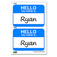 Ryan Hello My Name Is - Sheet of 2 Stickers
