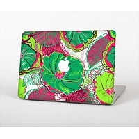 """The Bright Pink and Green Flowers Skin Set for the Apple MacBook Air 11"""""""