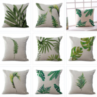 Leaf Printed Pillow Covers