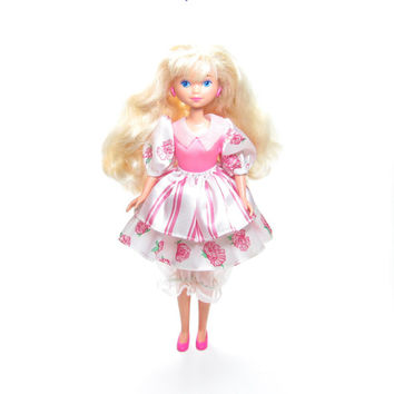 Peppermint Rose Doll Vintage Mattel Blonde Hair, Original Outfit with Pink Shoes