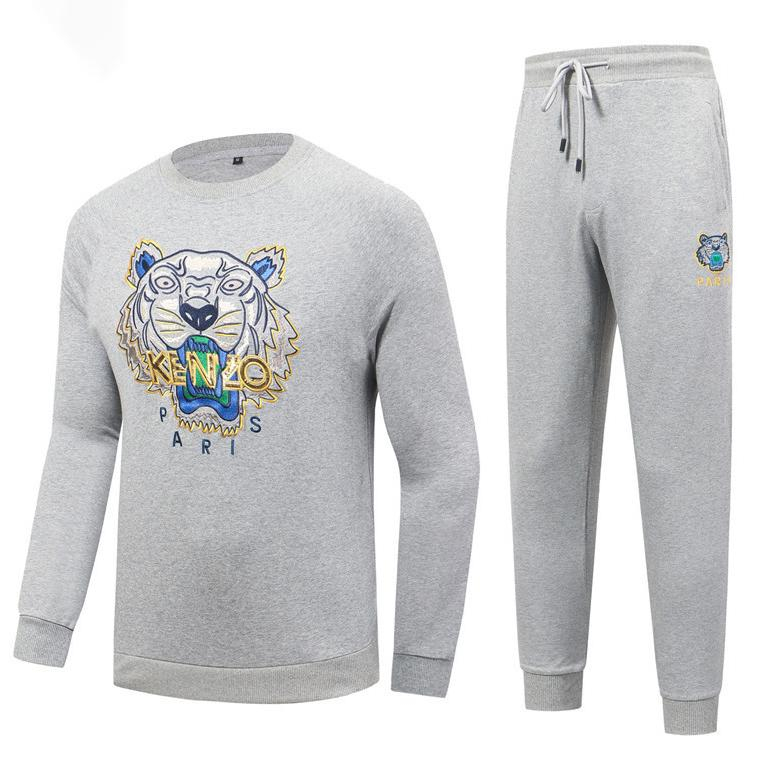 Image of Boys & Men Kenzo Fashion Casual Top Sweater Pullover Hoodie Pants Trousers Set Two-Piece