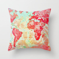 Oh, The Places We'll Go... Throw Pillow by Ally Coxon | Society6