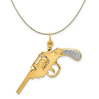 14k Yellow Gold Revolver Necklace