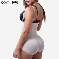 Plus Size Hot Latex Women's Body Shaper Post Liposuction Girdle Clip and Zip Bodysuit Vest Waist Shaper Reductoras Shapewear