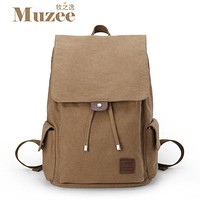 Men's backpacks fashion casual cotton canvas backpack school bag  travel bag