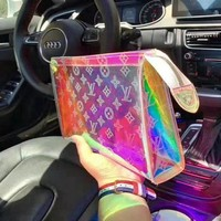 HCXX 19Aug 783 Louis Vuitton LV M47542 Monogram Print Zipper Colorful Clutch Bag 26-20-5cm