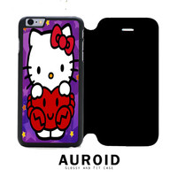 Hello Kitty Red Heart iPhone 6S Flip Case Auroid