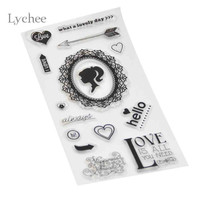1 Piece DIY Clear Transparent Rubber Stamps Sunflower Chrysanthemum Pattern Scrapbooking Decoration Silicone Seal Stamp Craft