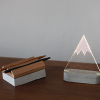 Modern snowy mountain lamp, mountain lamp, table lamp, night light, winter decorative lamp