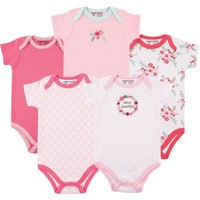 Luvable Friends Baby Girls' Bodysuits 5-Pack, Choose Your Color & Size - Walmart.com
