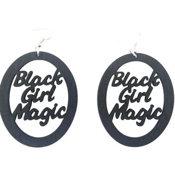 Black Girl Magic Earrings - Oval | Natural hair earrings | Afrocentric | jewelry | accessories