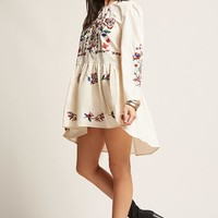 Floral Embroidered Woven Tunic