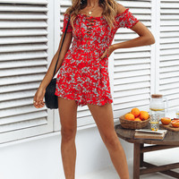 Did You See Romper Red