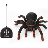 Electronic Pets High Quality New design Remote Control 11'' 4CH Realistic RC Spider Scary Toy Prank Christmas Gift Model toys