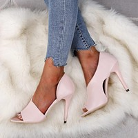 Summer all-match super high heel fish mouth sandals foreign trade plus size stiletto shoes