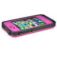 FAVOLCANO® Redpepper Waterproof Shockproof Dirtproof Snowproof Protection Shell for iPhone 4 4S (Pink)