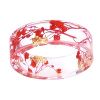 Frances Women Dried Flower Resin RIng