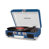Blue Portable Turntable